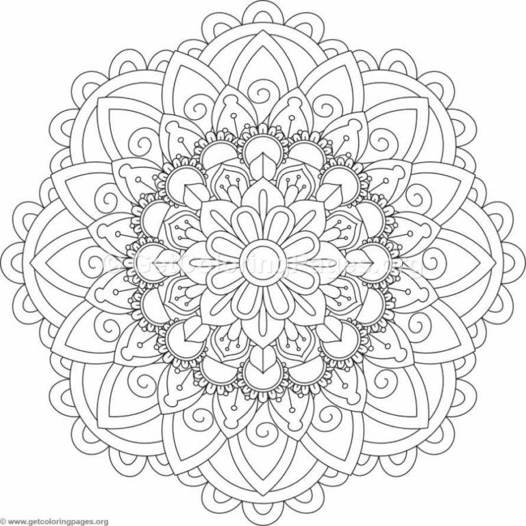 Flower Mandala Coloring Pages #236