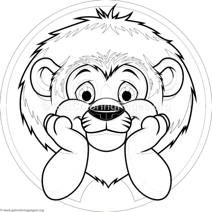 Cute Baby Lion Coloring Pages