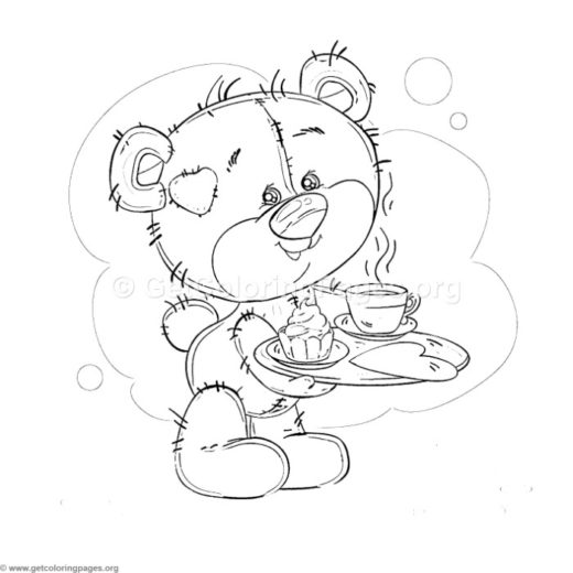 Cute Bear and Owls Coloring Pages