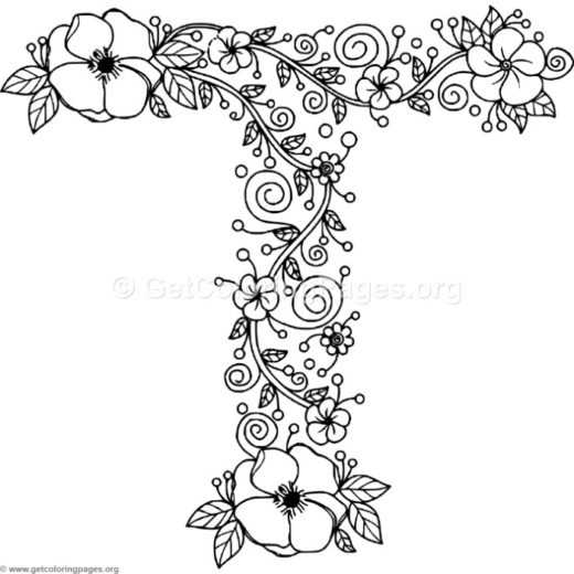 Large Letter Coloring Pages