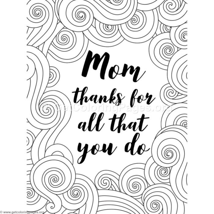 Mom Thanks for All That You Do Coloring Pages
