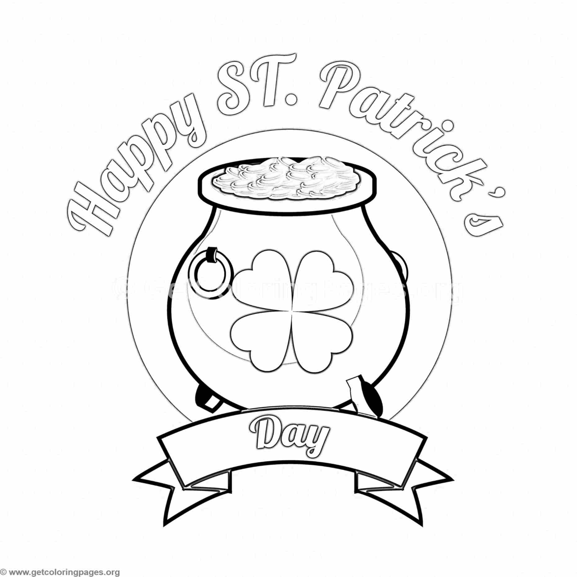 St Patrick S Day 4 Coloring Page Getcoloringpages