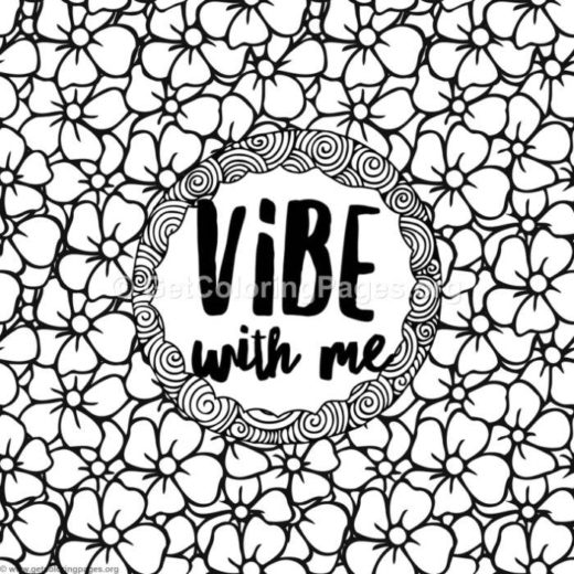 good vibes coloring pages life