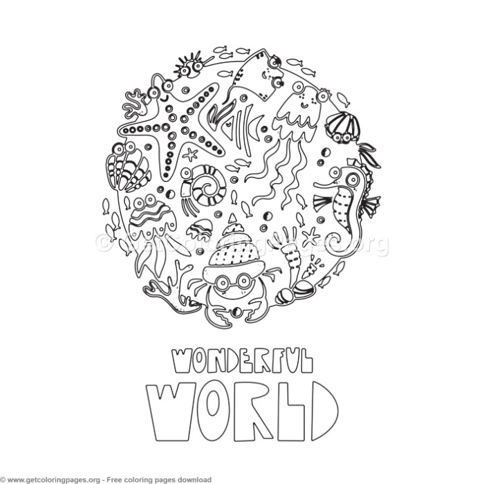 Wonderful World Coloring Pages