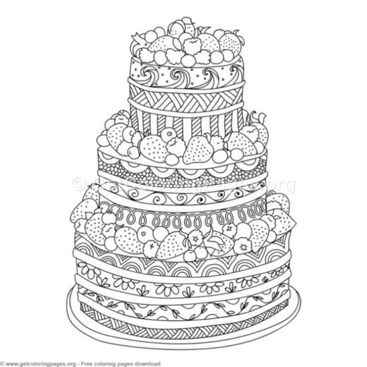 birthday cake colouring pages to print  GetColoringPagesorg