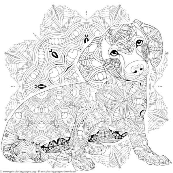 20 Easy Dog Mandalas For Coloring Ideas And Designs