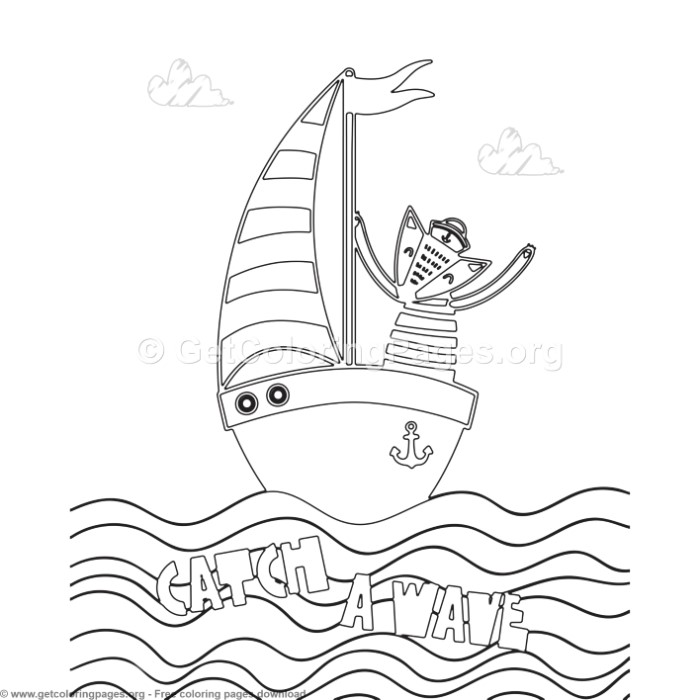Catch a Wave Coloring Pages