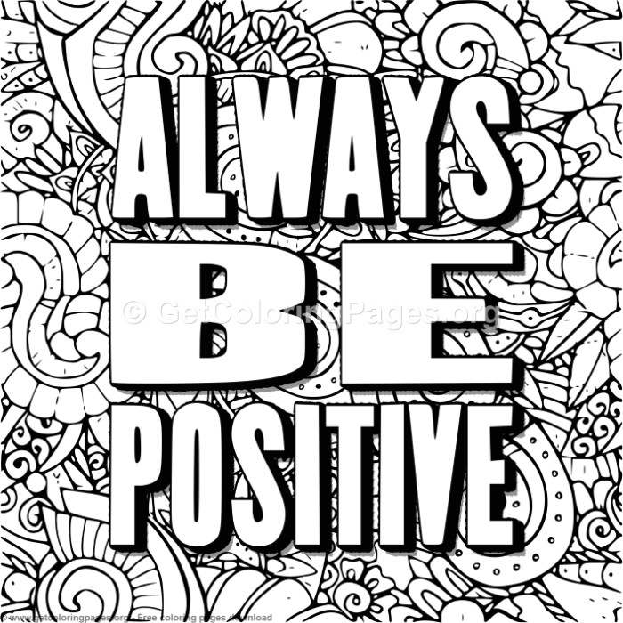 Always Be Positive Coloring Pages