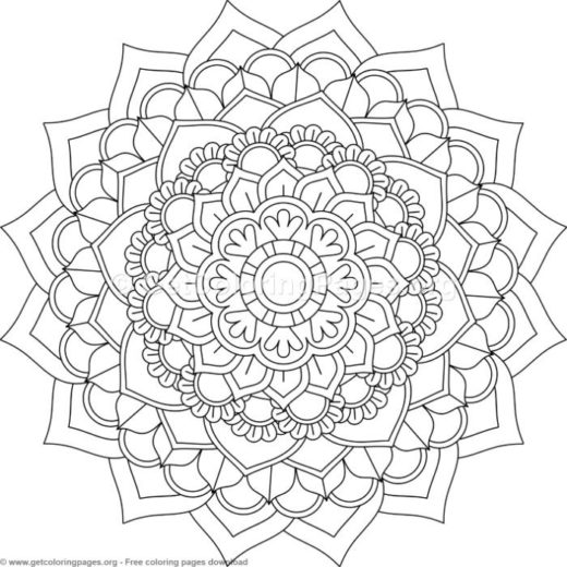 Mosaic Pattern Coloring Pages #9
