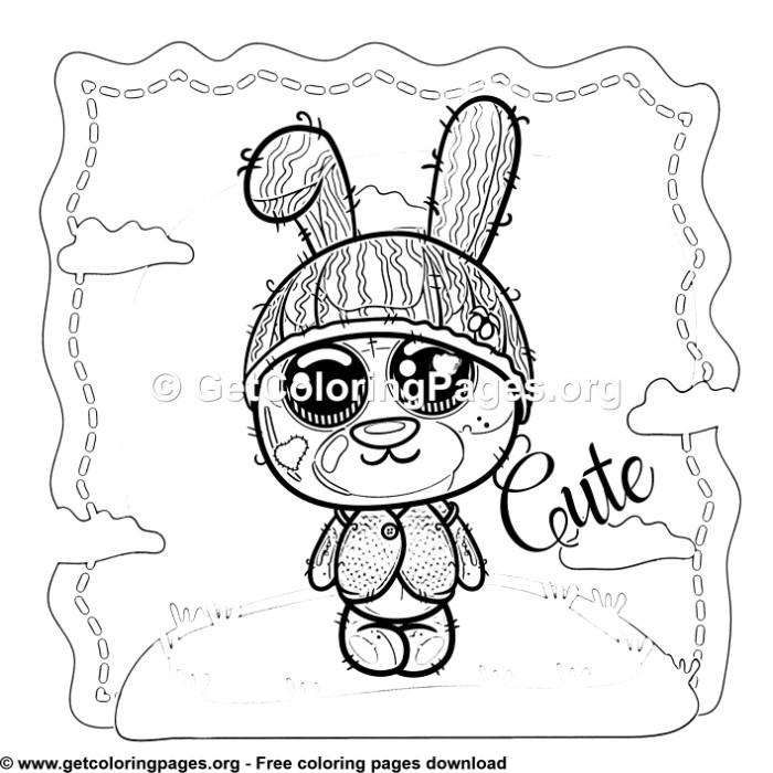 Teddy Bear Bunny Coloring Pages