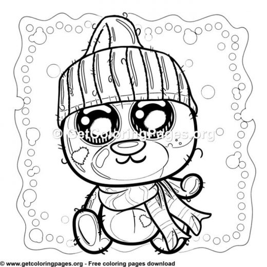 teddy bear picnic coloring pages