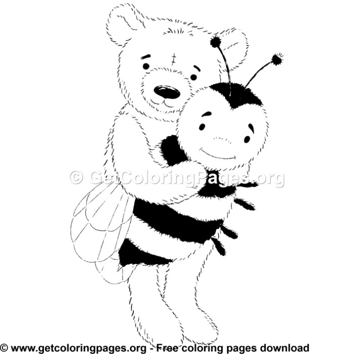 Teddy Bear 3 Coloring Pages