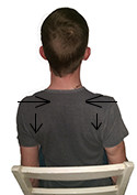Pinching shoulders together