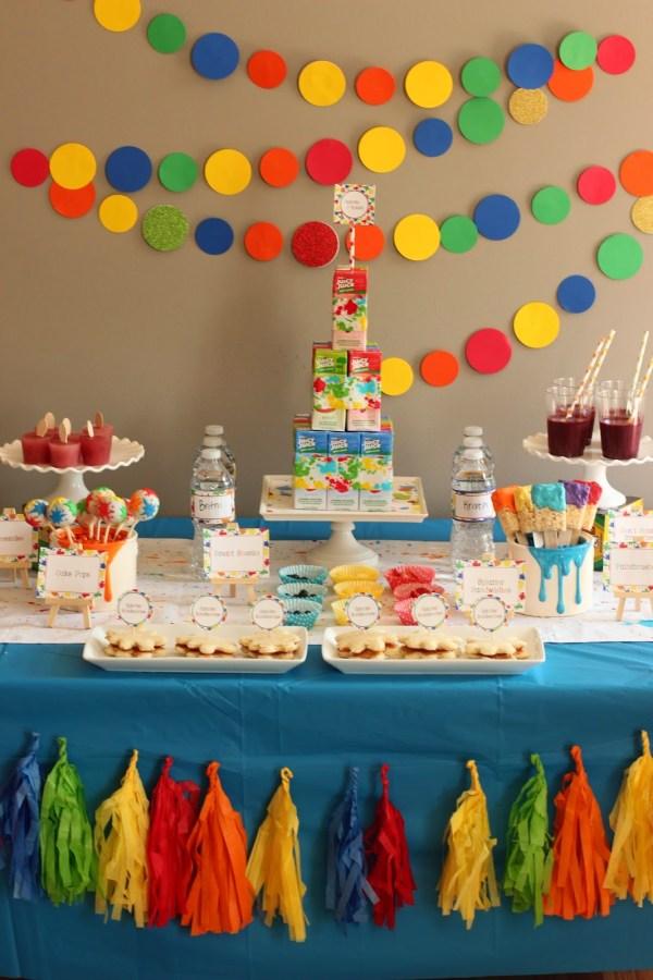 Paint Party Decoration Ideas