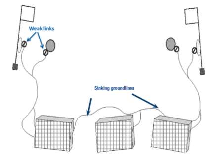 Ways to reduce sea mammals from getting caught in pots and traps designed to catch crustaceans.