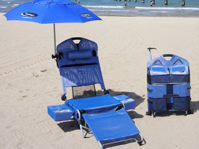LoungePac Beach Lounger with Speakers
