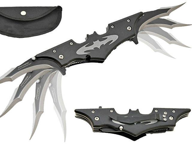 Batman Twin Blade Batarang Style Pocket Knife