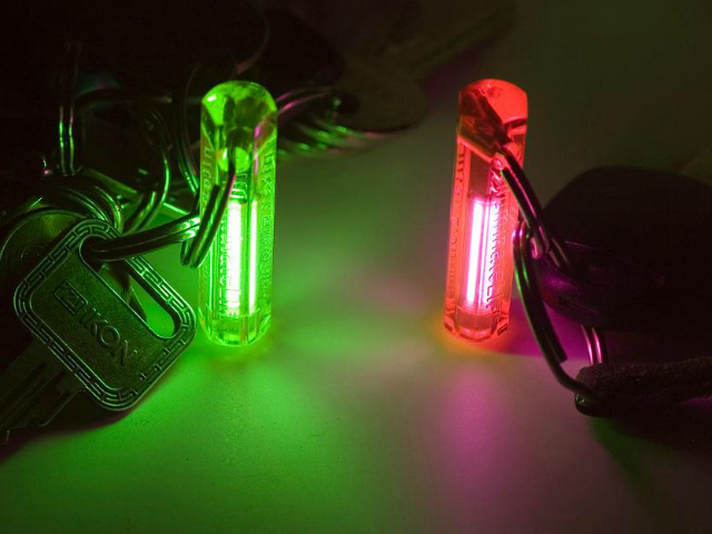 GENUINE NITE GLOWRING//KEYRING glows for over 10yrs blue colour