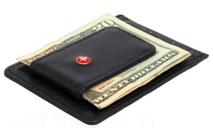 Alpine Swiss Leather Money Clip Front Pocket Wallet
