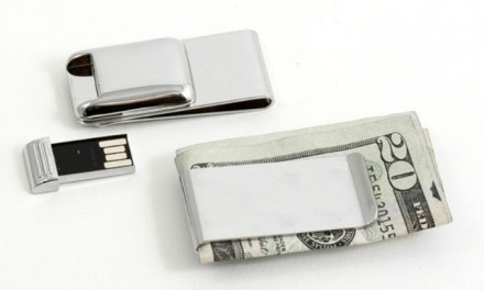 Nickel Plated Money Clip With USB Flash Drive
