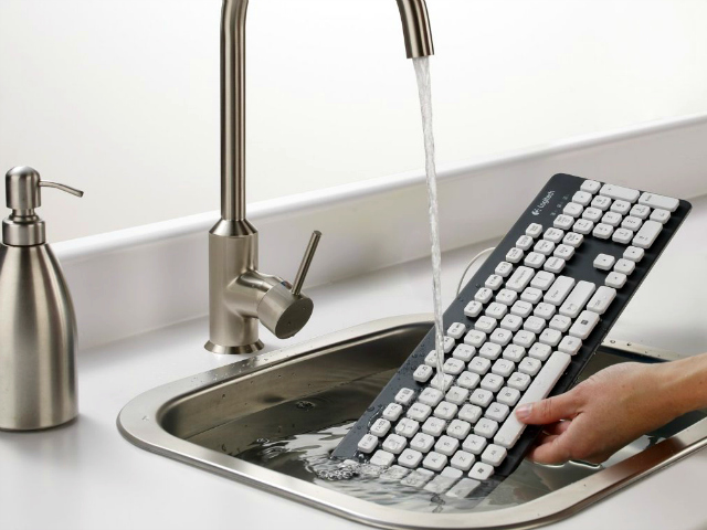 Logitech Washable Keyboard is Ready for Life's Accidents