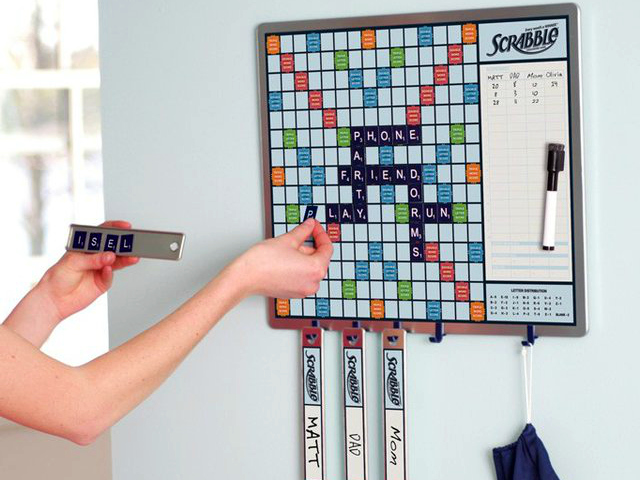 Scrabble Game Plus Message Board Keeps the Game Going