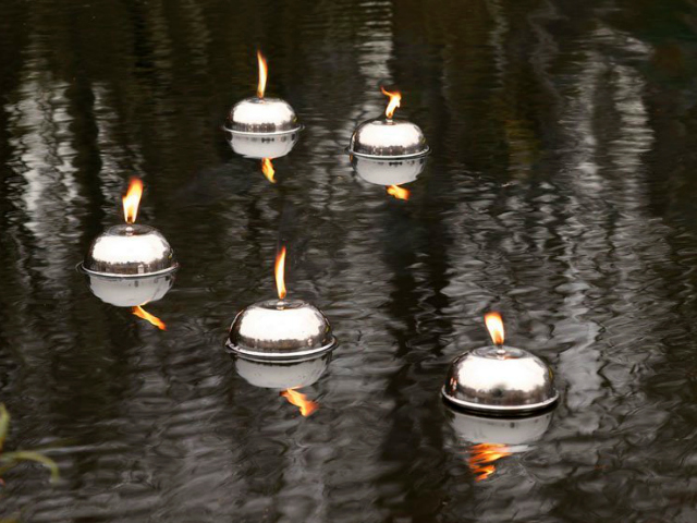 Floating Stainless Steel Lantern – Mix Fire with Water