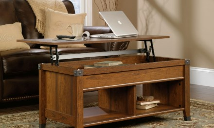Sauder Carson Forge Lift-Top Coffee Table Turns Your Living Room into an Office