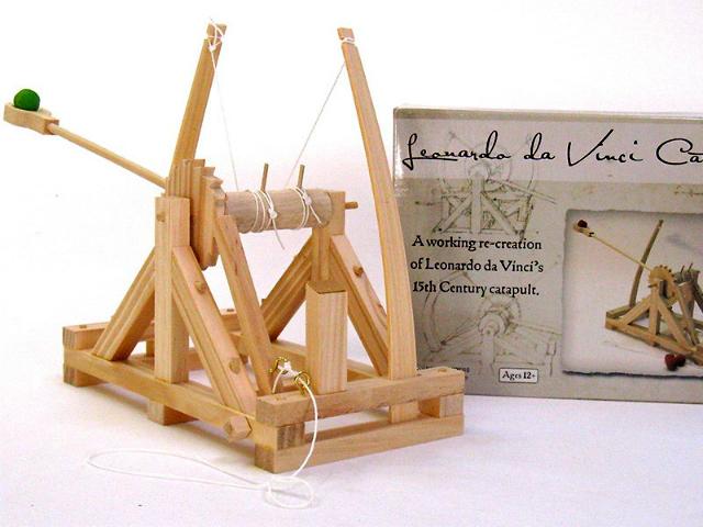 Leonardo Da Vinci Catapult Model Kit Getdatgadget
