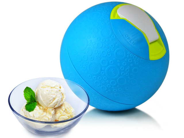 Yay Labs SoftShell Play Ball that also Makes Ice Cream