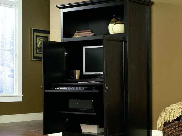 Charmant Buy From Amazon · Sauder Edge Water Computer Armoire