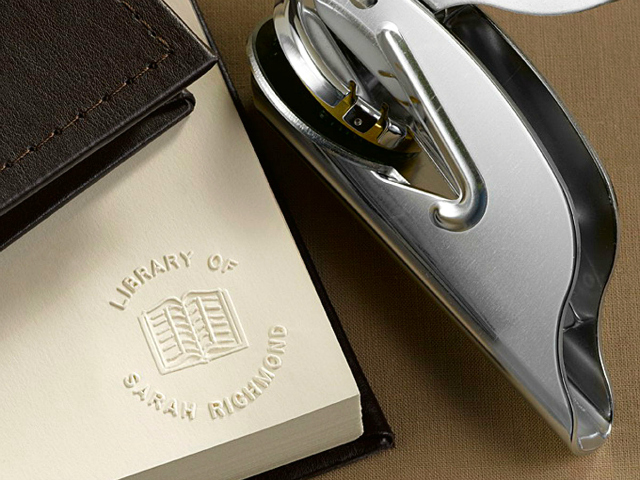 Add a Touch of Class with the Personal Library Book Embosser