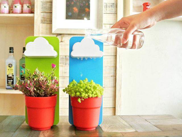 Make Watering Plants Fun With Rainy Pot