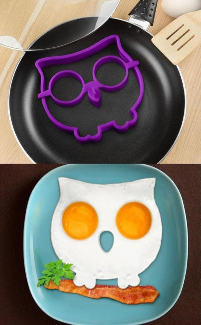 Owl Shape Silicone Egg Frying Mould