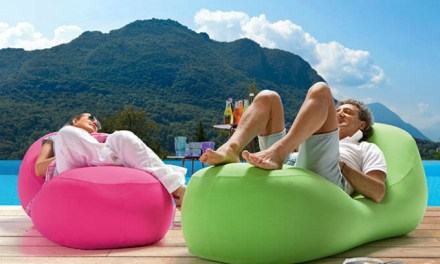 Portable Inflatable Lounger Inflates In Seconds