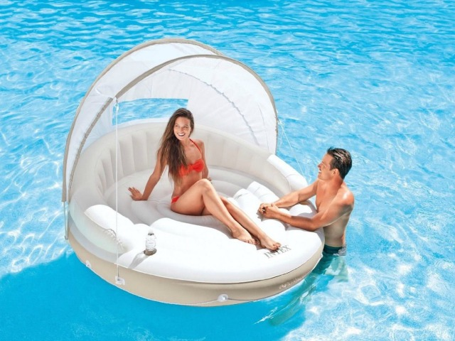 The Floating Canopy Lounge is the Way to Laze at the Pool