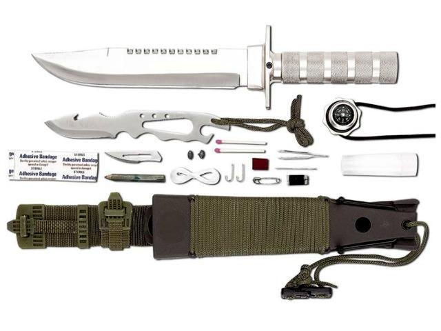 Maxam 12pc Survival Knife has a few Tricks up its Sheath