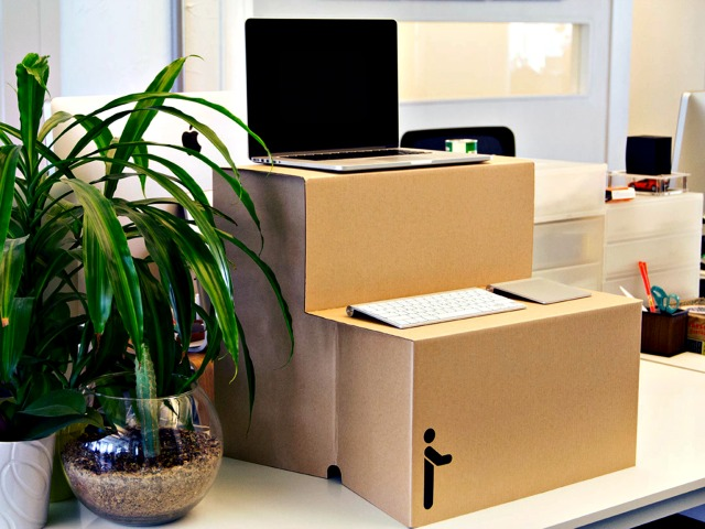 Oristand: The Origami Stand Up Desk