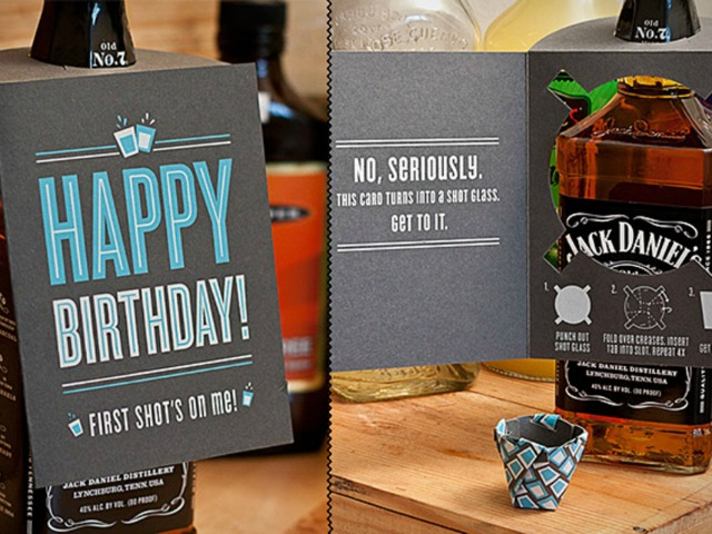 The Shot Glass Card is a Birthday Card AND a Shot Glass