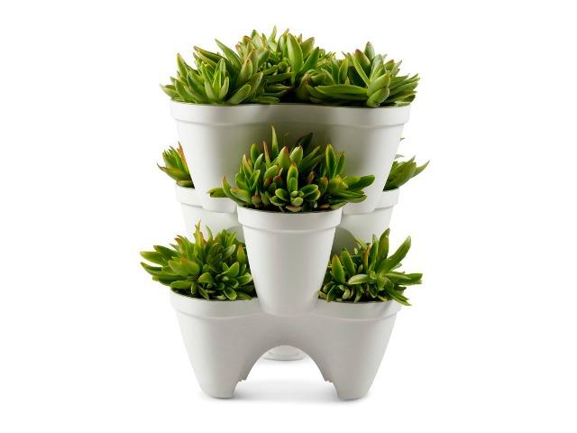 Mr Stacky Stackable Planter: Plant a Vertical Garden Easily