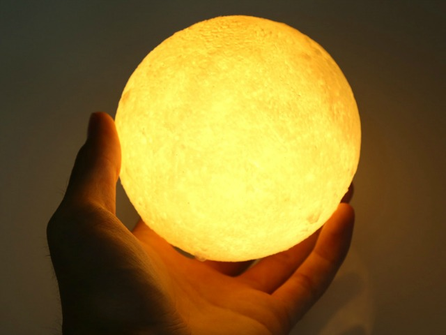Moon LED Night Light Lets you Take the Moon Home