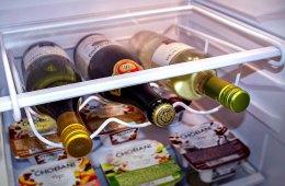 Sorbus Fridge Wine Rack Maximizes Fridge Storage Space