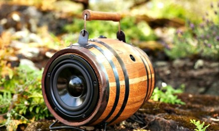 Boomcase Barrel: Portable Sound System in a Vintage Barrel