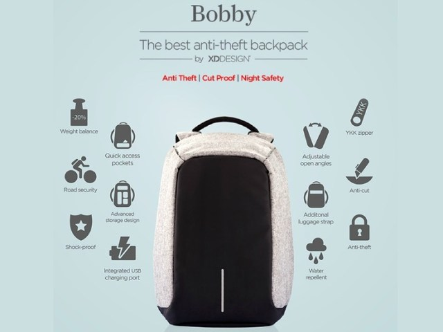 Bobby Anti-Theft Backpack Baffles Pickpocketers