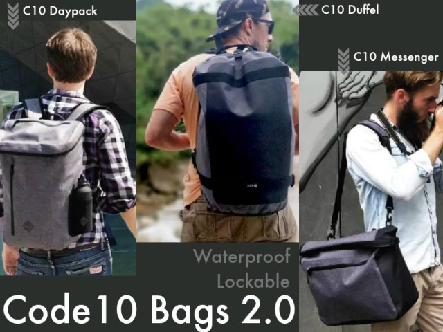Code10 Bag 2.0: Waterproof Lockable Bag is Back