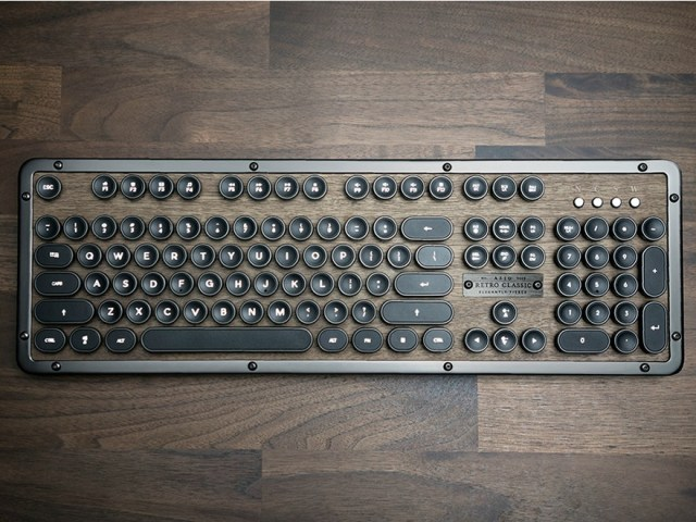 Azio Retro Classic Lust-worthy Steampunk Keyboard