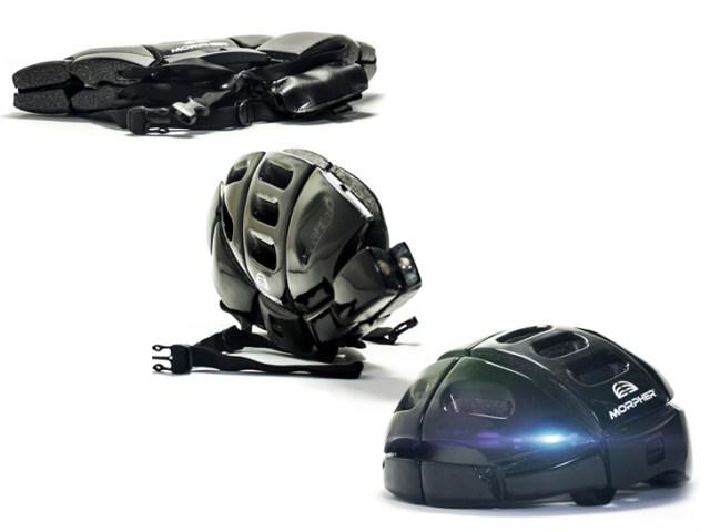 Morpher Bike Helmet Folds Flat for Portability