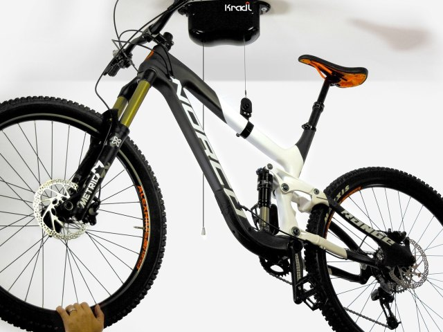 Kradl Bike Hoist and Storage – No Power, No Pulleys