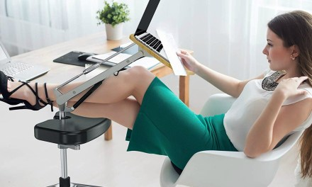RoomyRoc Mobile Laptop Desk with Footrest