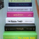 Custom Book Title Decals for Stairs